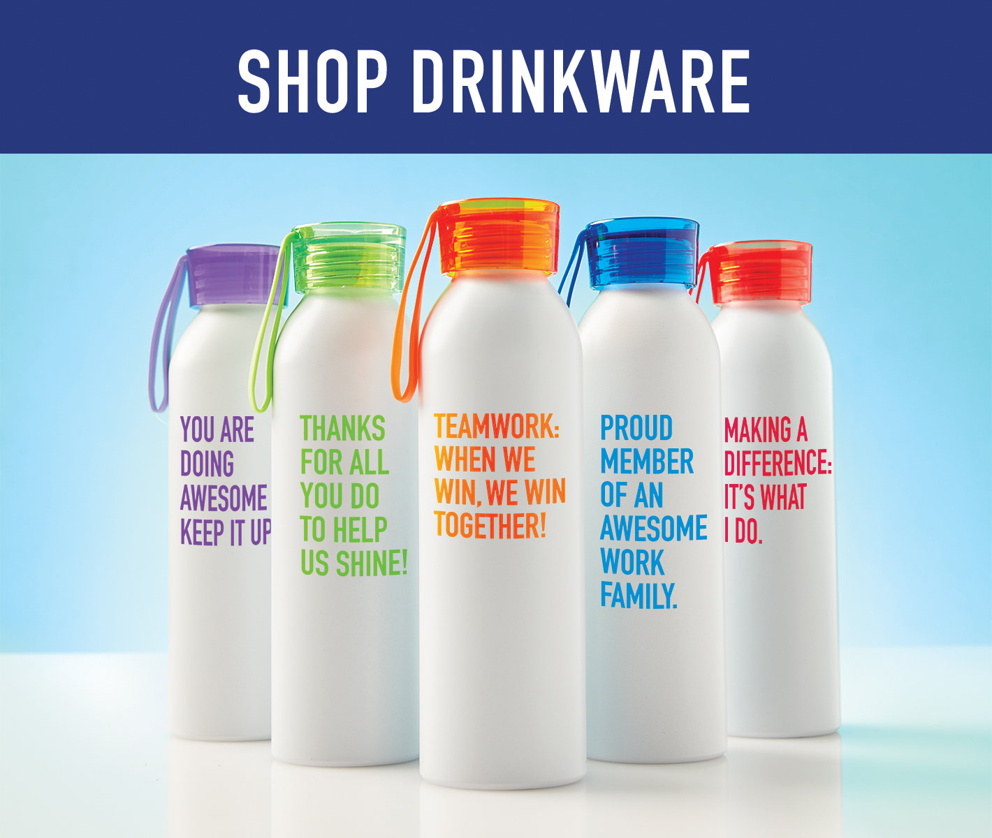 Shop drinkware at Baudville.com.